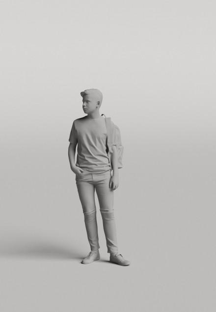3D Diverse people - Man 04