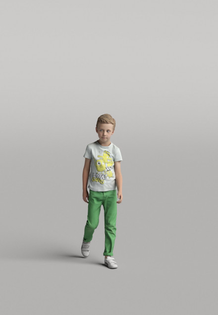 3D Diverse people - Kid 02