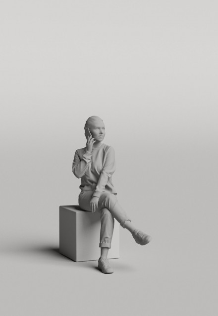 3D Diverse people - Woman 08