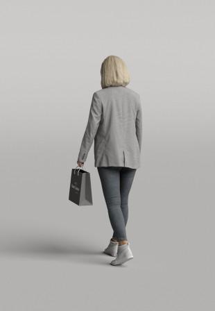 3D Diverse people - Woman 09