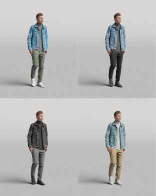 3D Diverse people - Man 03