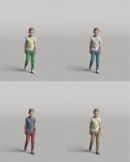 3D Diverse people - Kid 02
