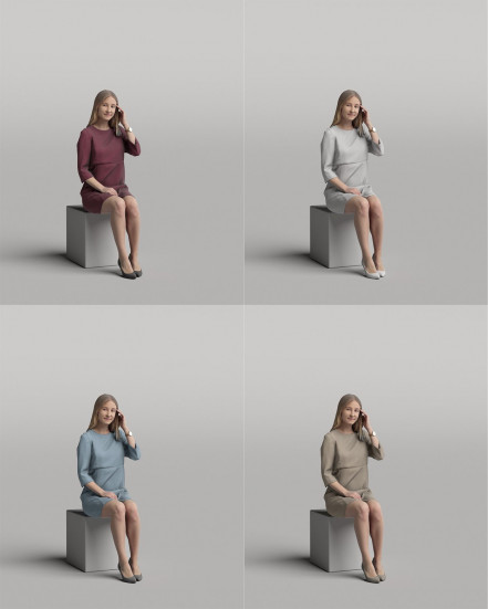 3D Diverse people - Woman 11