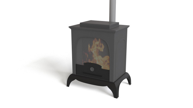 Small Metal Fireplace