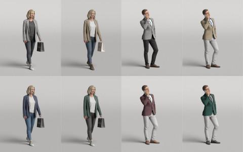 Humano3D - Diverse 3D people - vol.4