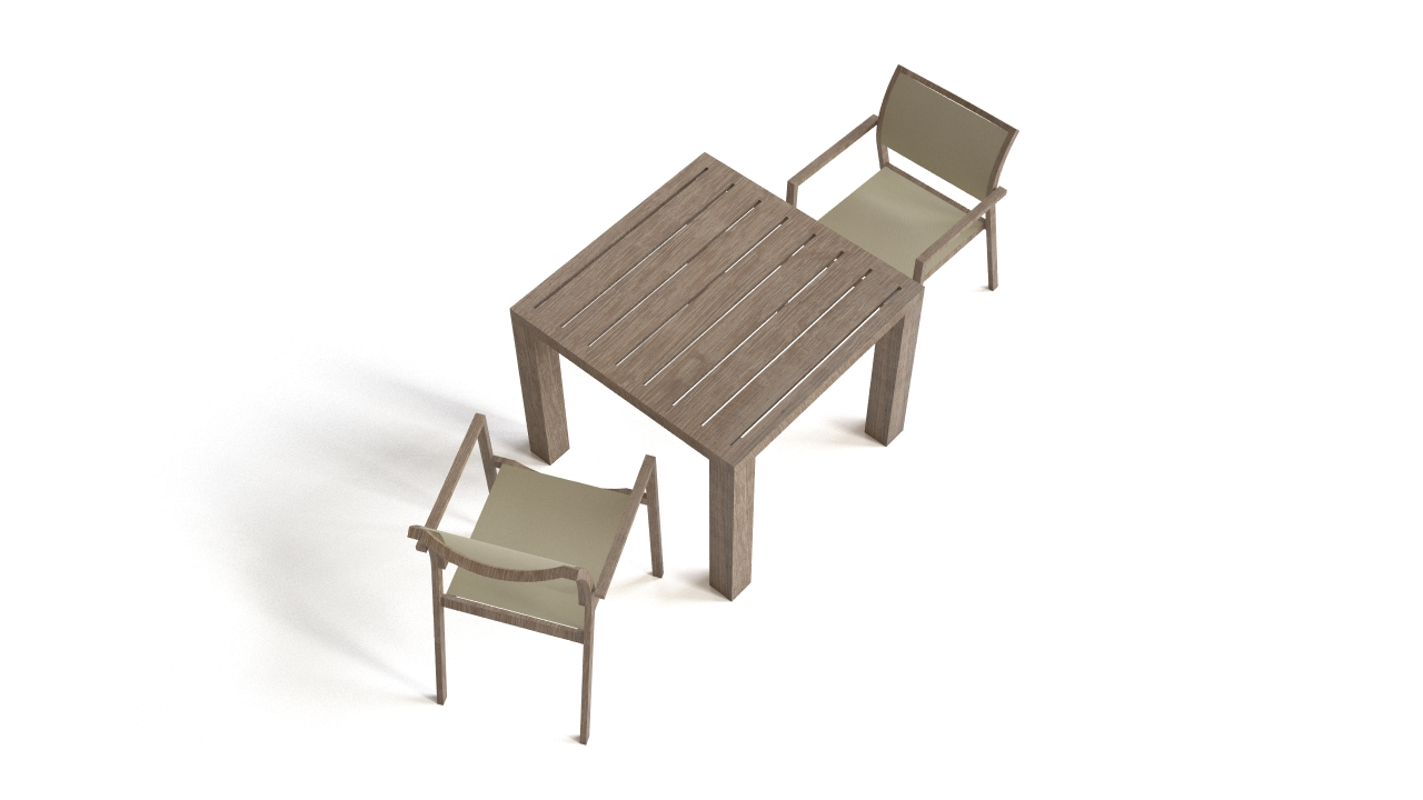 The table and the chair set