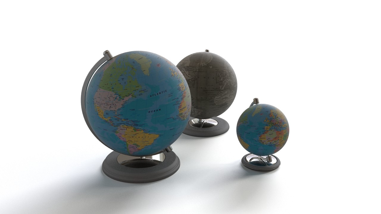 Three globe models