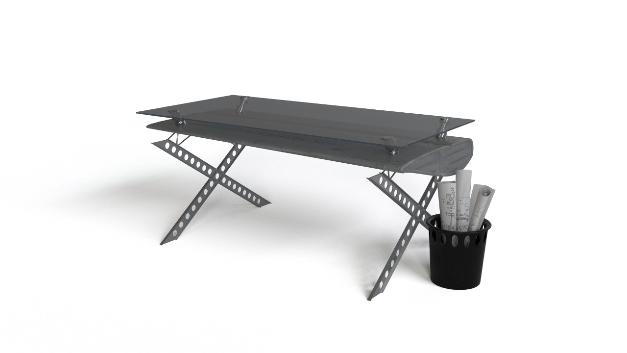 Ultramodern futuristic office table