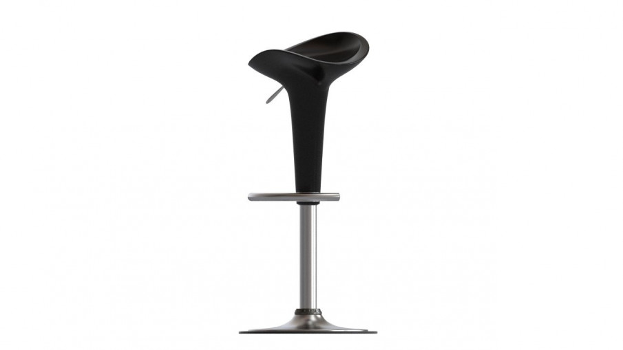 Venice Black Gas Lift Bar Stool