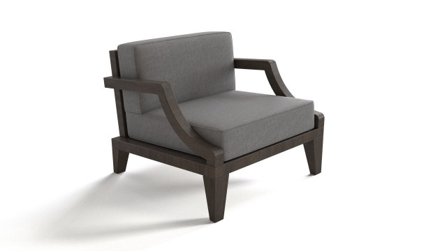 Wooden base armchair