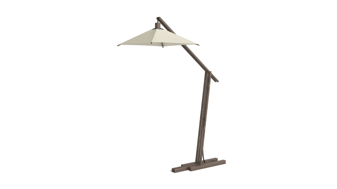 Wooden exterior lamp