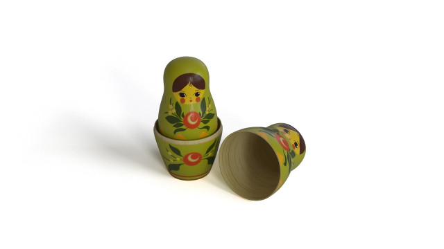 Wooden Matrioshka toy