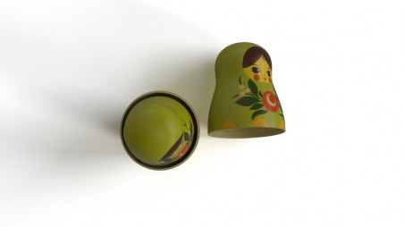 Wooden Matrioshka toy