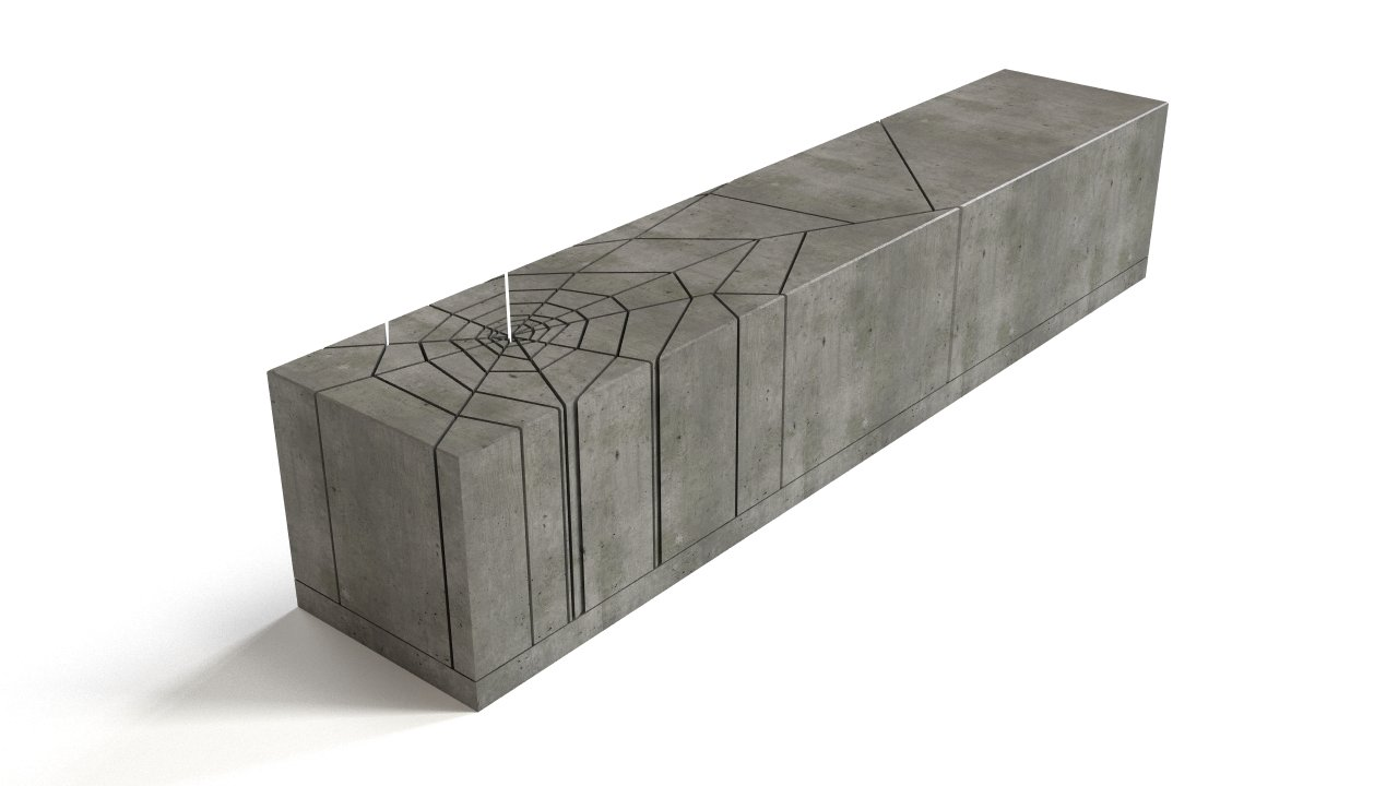 Outdoor bench - concrete