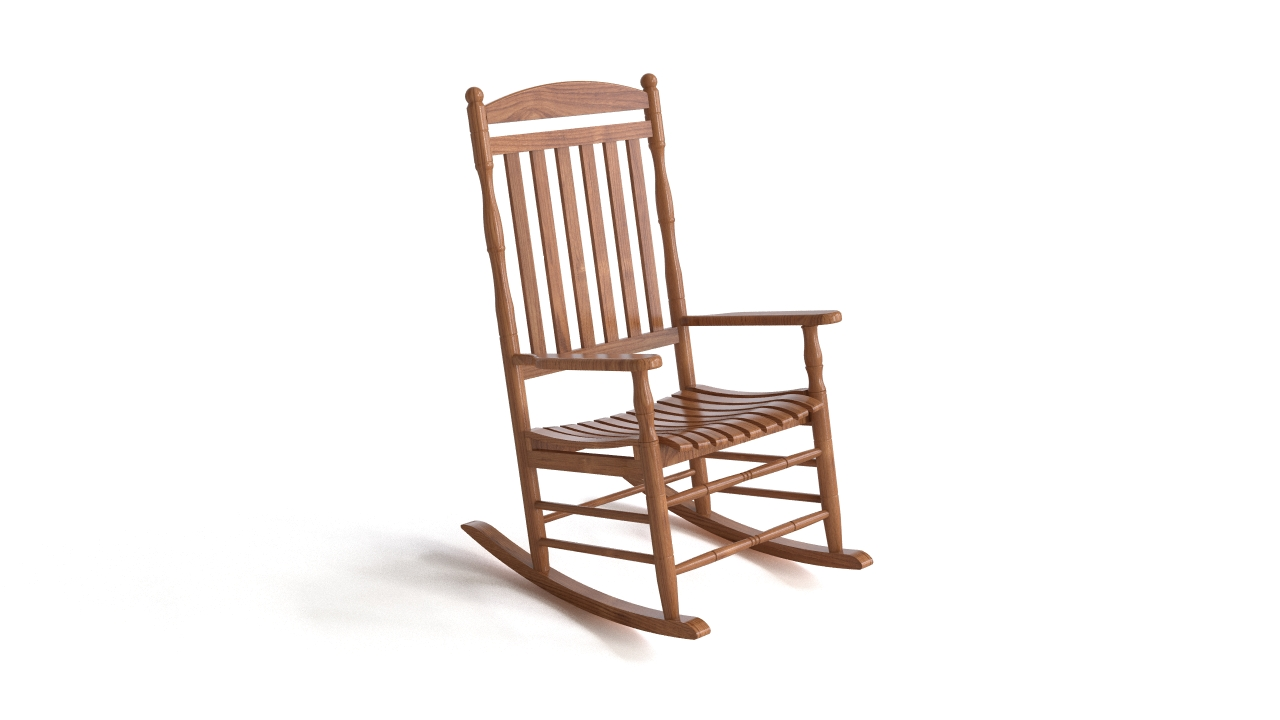 Wooden rocking chair flyingarchitecture