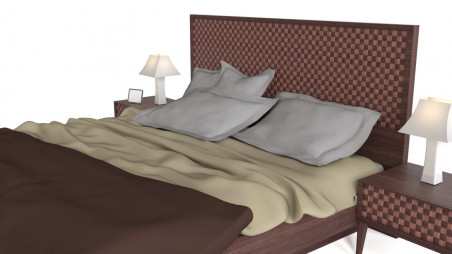 Woven double bed