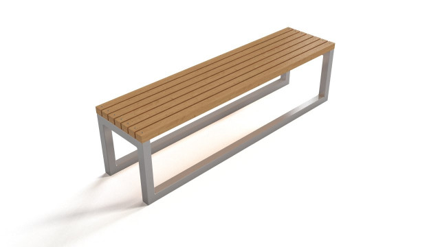 Outdoor bench - wood and steel