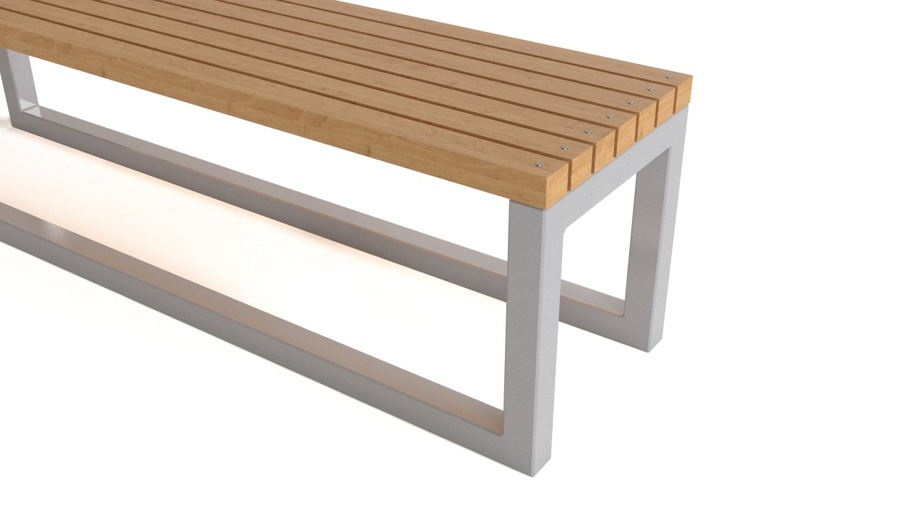 Outdoor bench wood and steel flyingarchitecture for Metal benches for outdoors