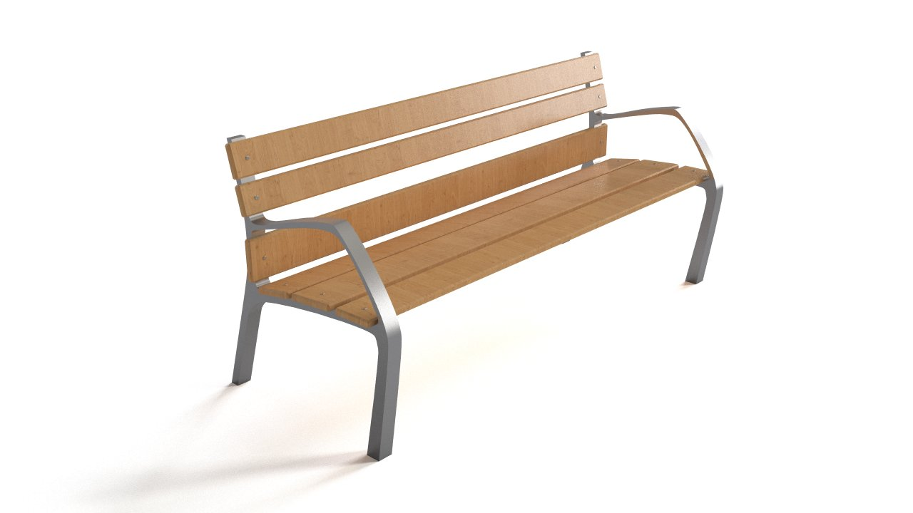 Bench - steel & wood