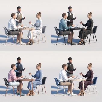 Humano3D - Café & Restaurant - vol.6