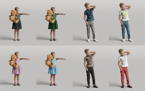 Humano3D - Casual 3D people - vol.5