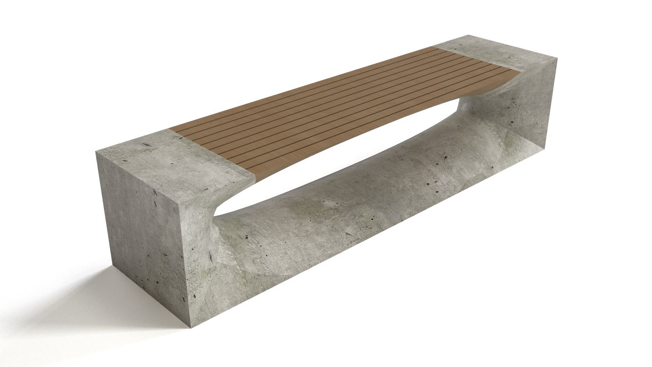 Bench - concrete & wood