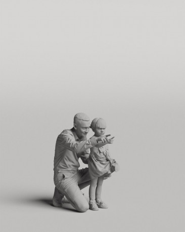 3D casual people - Father and daughter vol.05/01-02