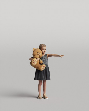 3D casual people - Child with a toy vol.05/04