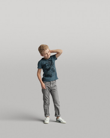 3D casual people - standing boy vol.05/05