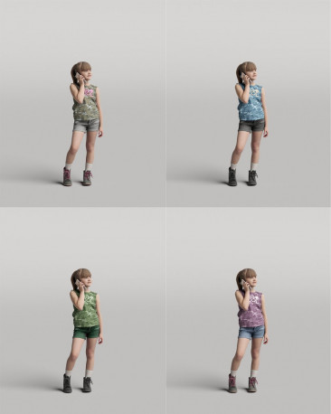 3D casual people - standing girl vol.05/08