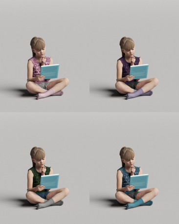 3D casual people - reading girl vol.05/09
