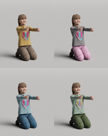 3D casual people - playing girl vol.05/10