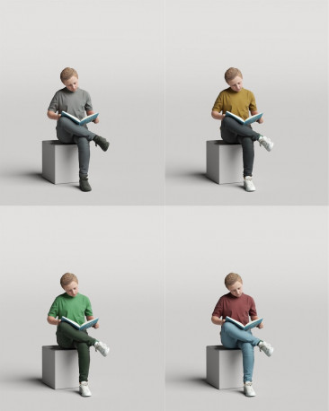 3D casual people - reading kid vol.05/11