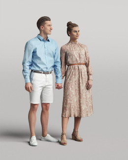 3D casual people - standing couple vol.05/12-13