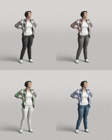 3D casual people - standing woman vol.05/14
