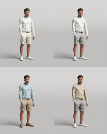3D casual people - standing man vol.05/15