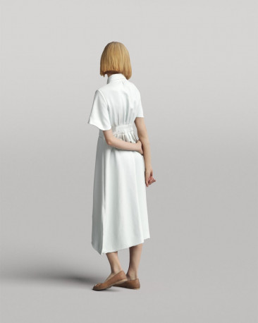 3D casual people - standing woman in a dress vol.05/16