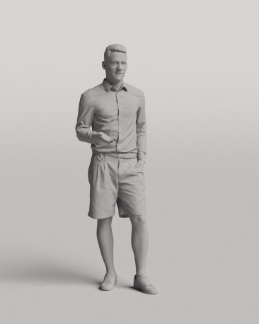 3D casual people - Standing young man vol.05/17