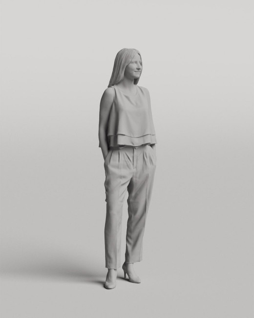 3D casual people - Standing young woman vol.05/18