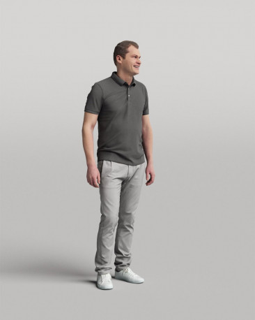 3D casual people - standing man vol.05/19