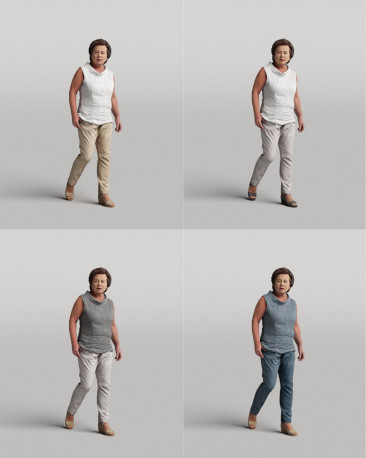 3D casual people - walking woman vol.05/20