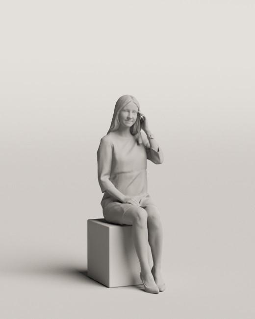 3D people - Sitting woman vol.06/01