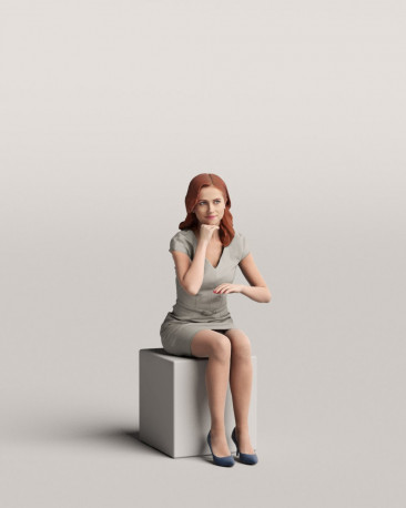 3D people - Sitting woman vol.06/02