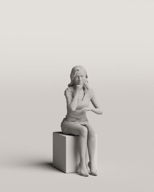 3D people - Sitting woman vol.06/02