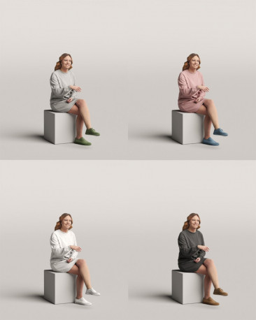 3D people - Sitting woman vol.06/03