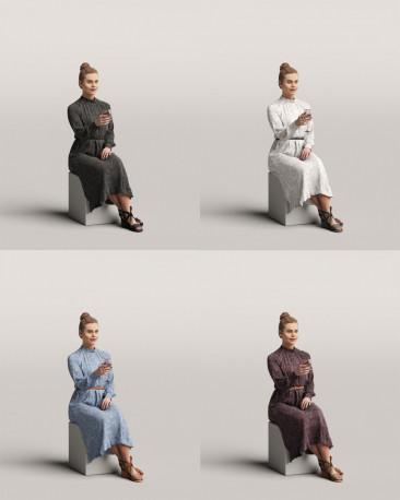 3D people - Sitting woman vol.06/11