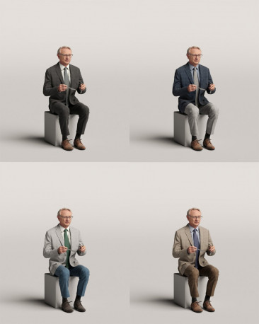3D people - Sitting man vol.06/18