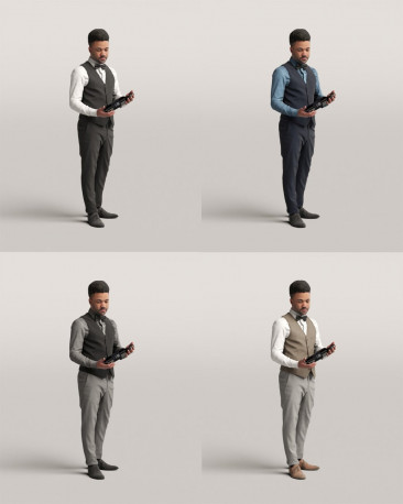 3D people - Waiter vol.06/20