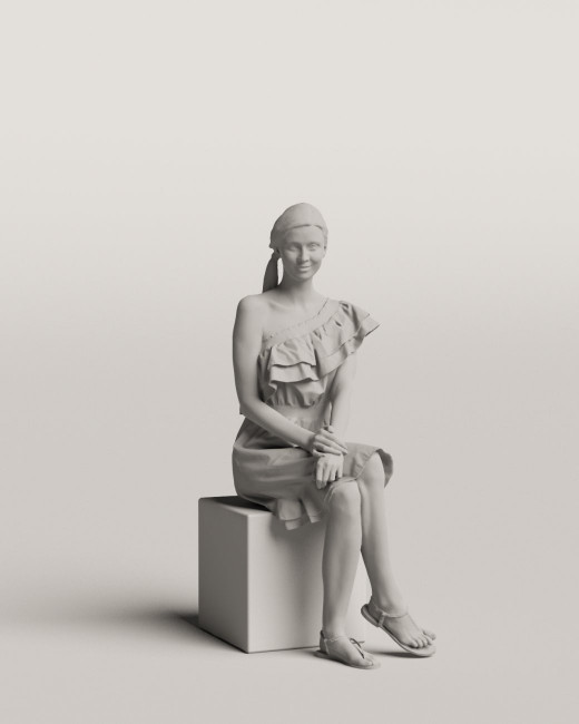 3D people - Sitting woman vol.06/04