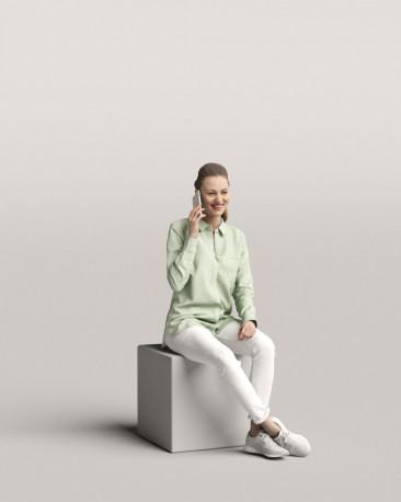 3D people - Sitting woman vol.06/05